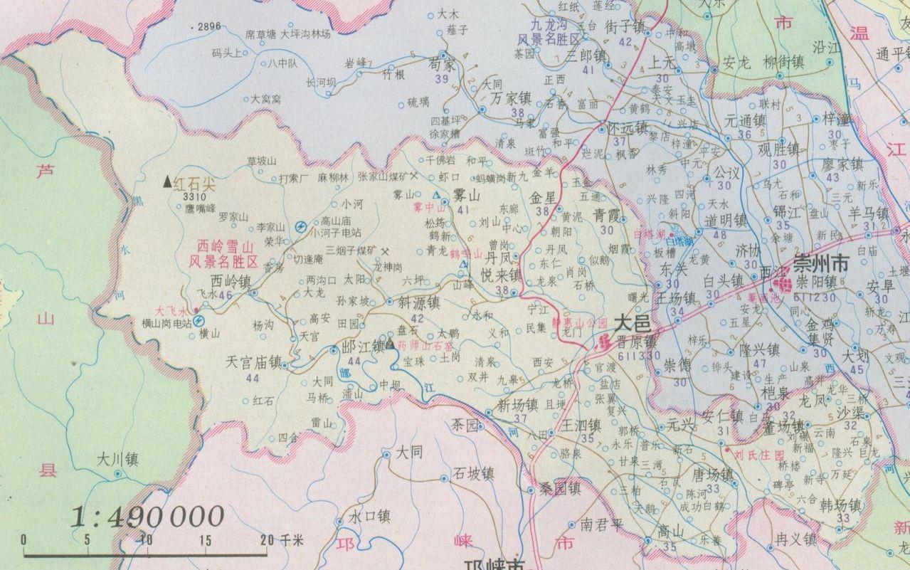 成都市大邑县地图