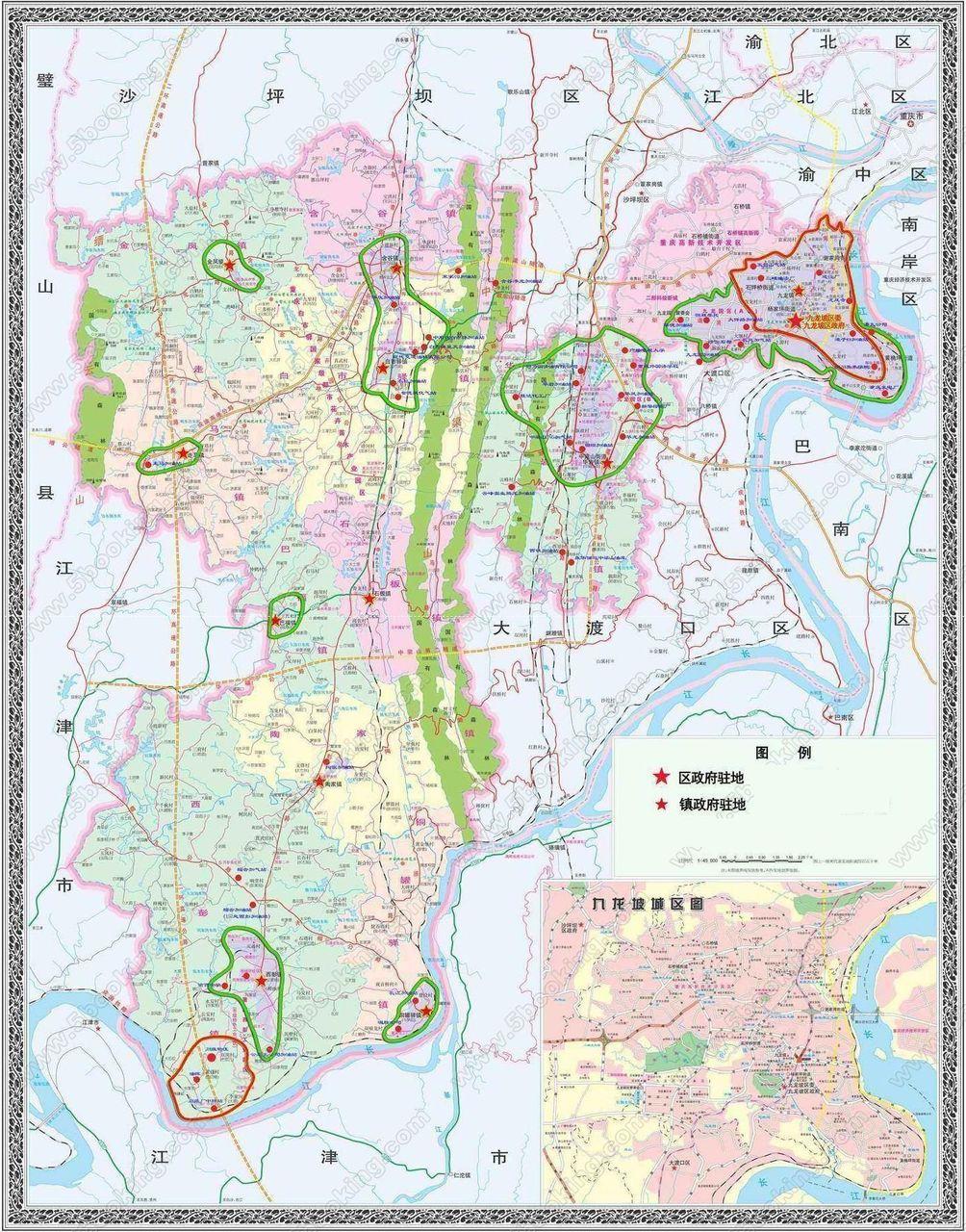 重庆市九龙坡区地图