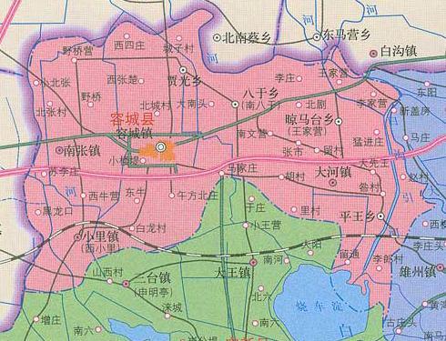 河北省保定容城县地图查询,保定容城县电子地图,保定容城县行政