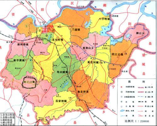 益阳市赫山区地图