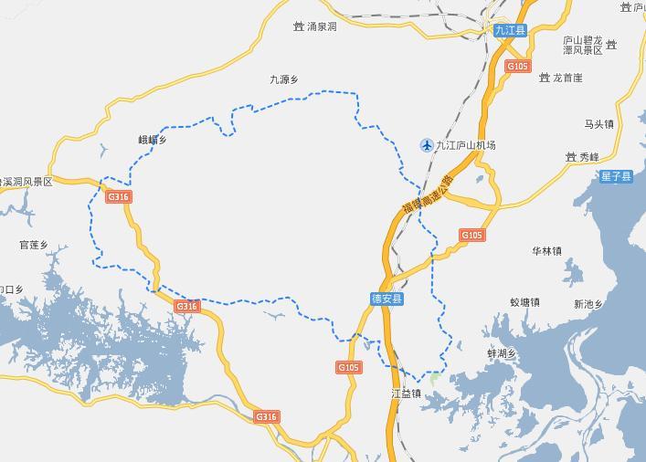 九江德安县电子地图,九江德安县行政地图全图,高清版大图