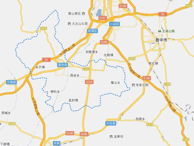 太原清徐县电子地图,太原清徐县行政地图全图,高清版大图