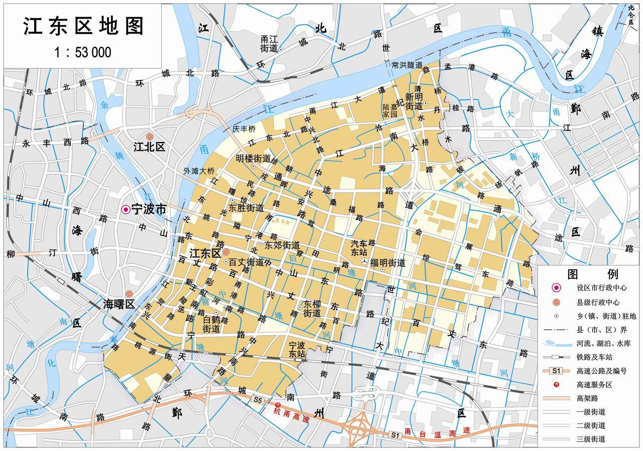 宁波市江东区地图