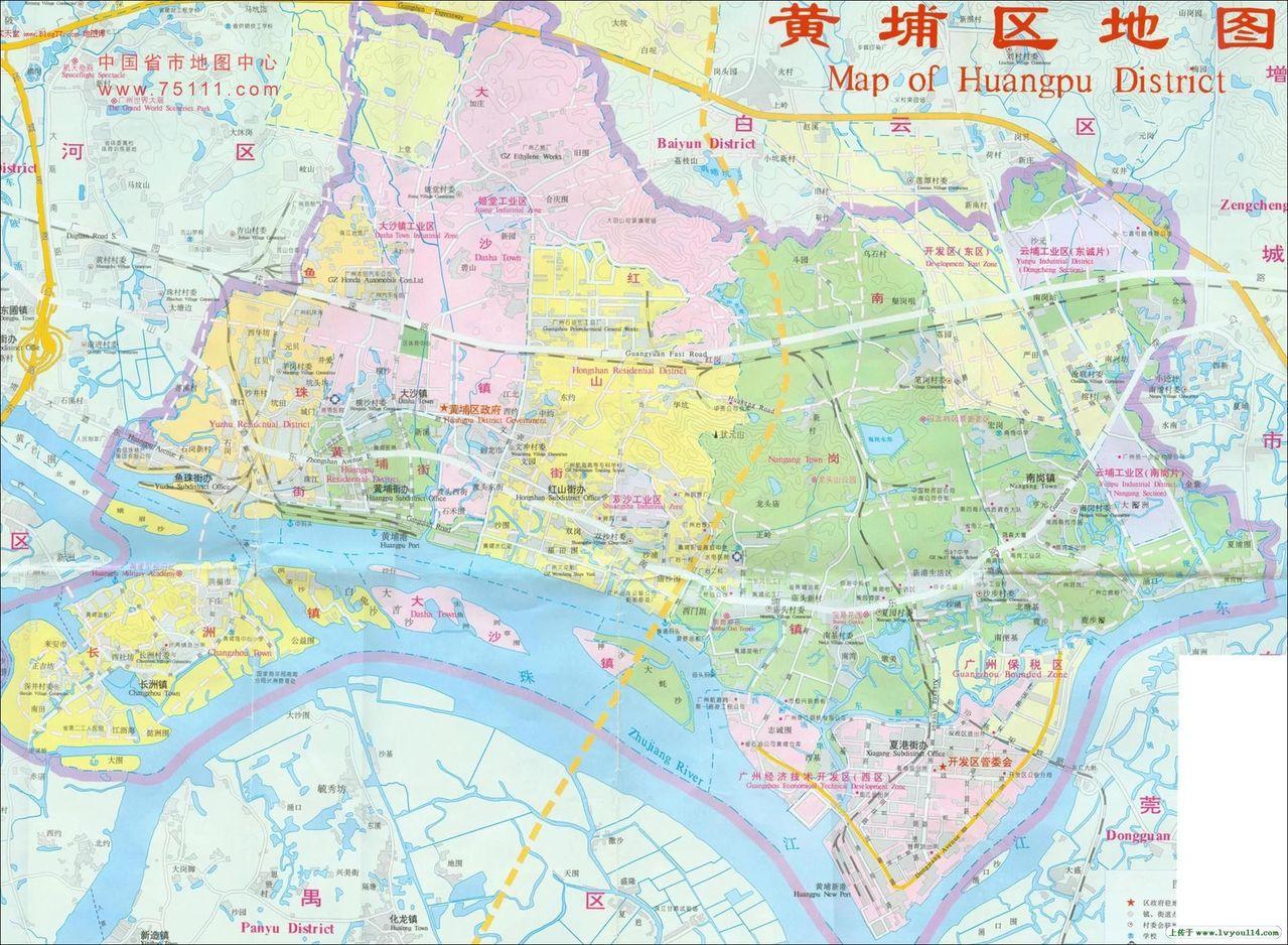 广州市黄埔区地图