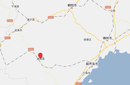 葫芦岛市建昌县地图