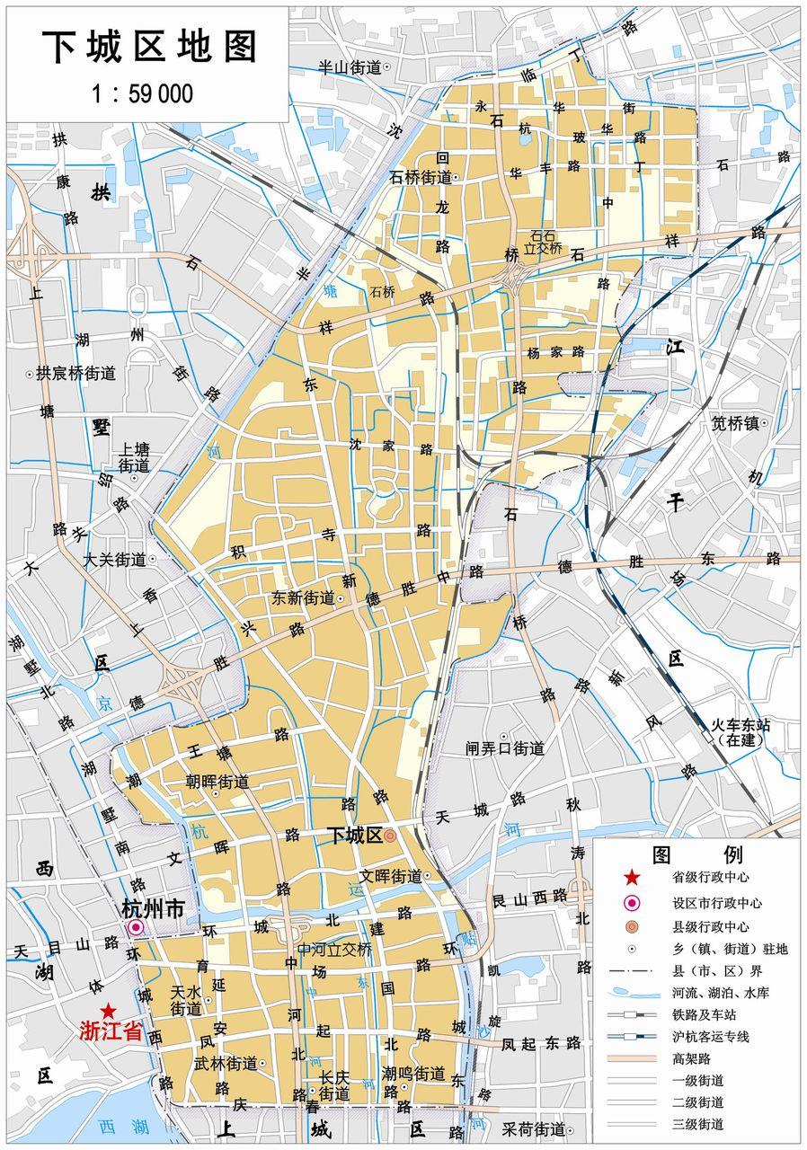 杭州市下城区地图